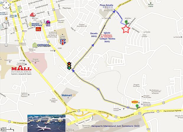 Mapa de nuestra ubicación en Villas de Alicante, Alajuela.